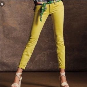 CABI yellow curvy fit skinny jeans